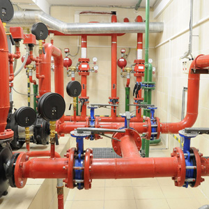 Fire safety water pipe matrix installation